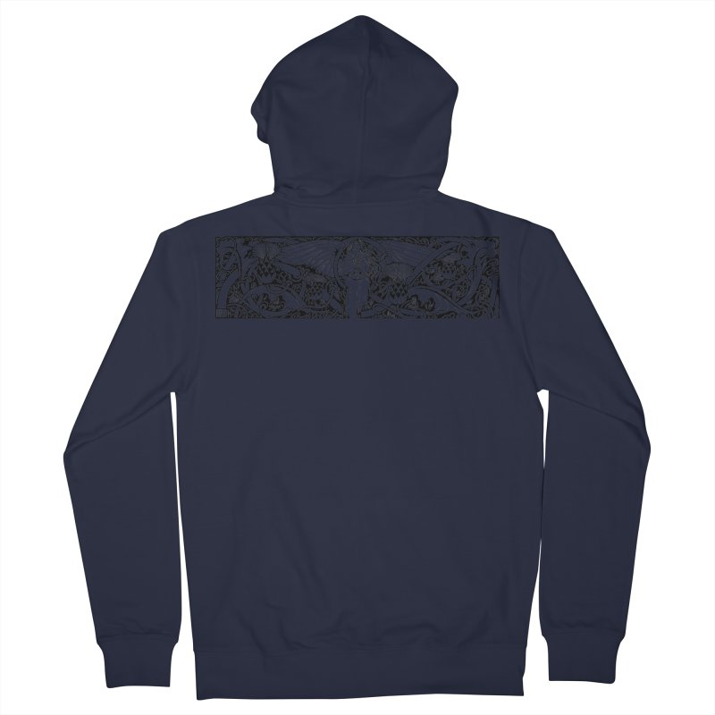 Angel Women's French Terry Zip-Up Hoody by Green Grackle Studio