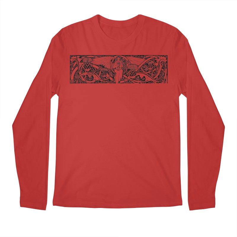 Angel Men's Regular Longsleeve T-Shirt by Green Grackle Studio
