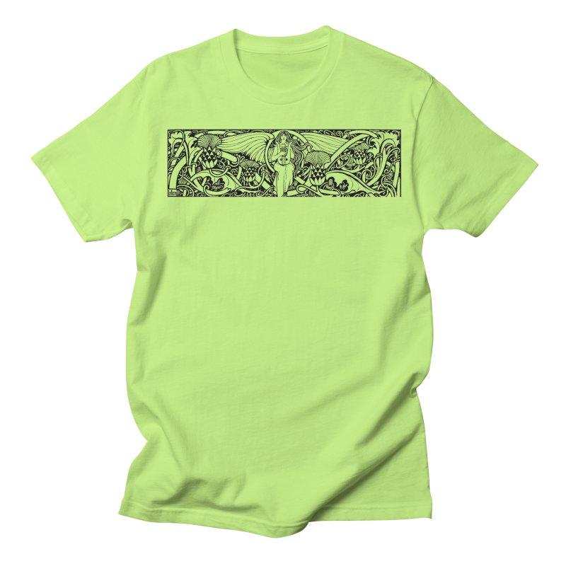 Angel Women's Regular Unisex T-Shirt by Green Grackle Studio