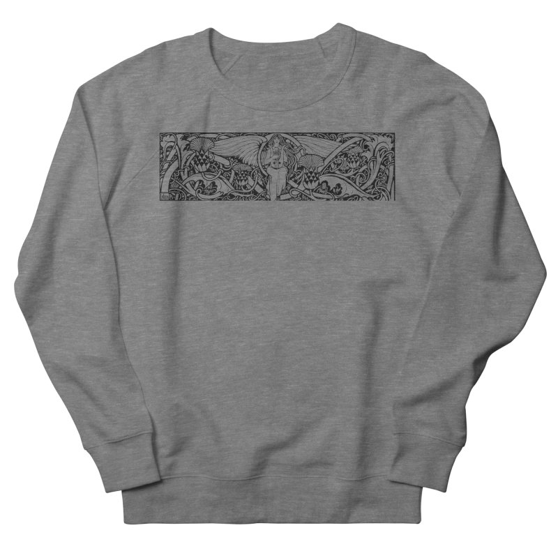 Angel Men's French Terry Sweatshirt by Green Grackle Studio