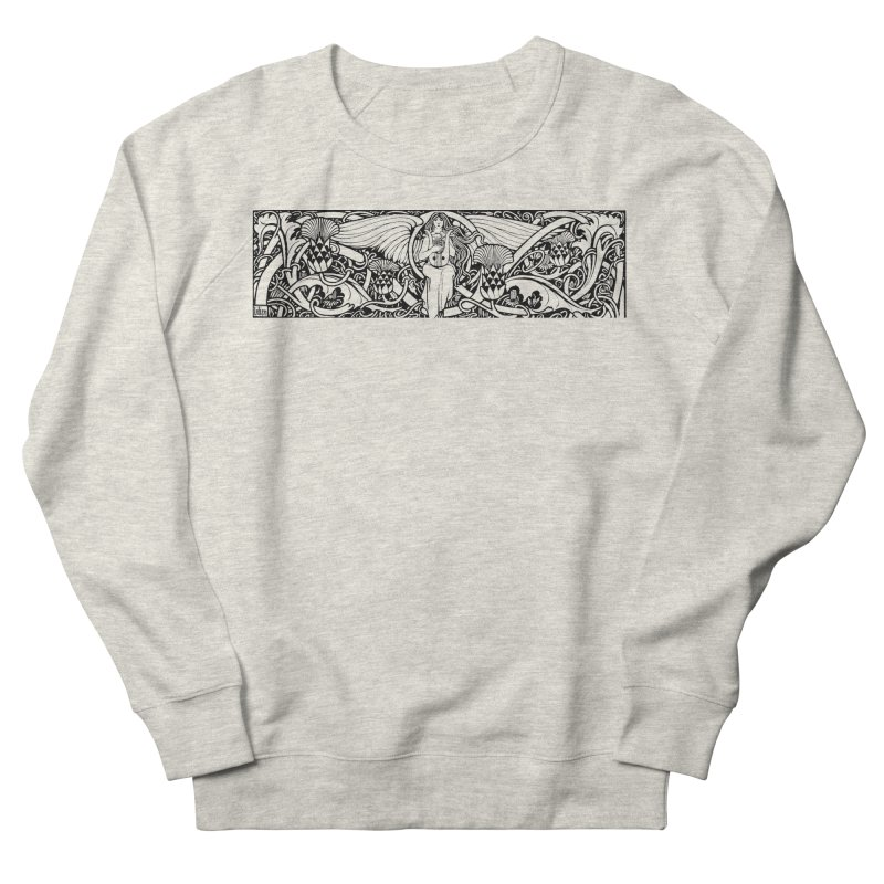 Angel Men's Sweatshirt by Green Grackle Studio