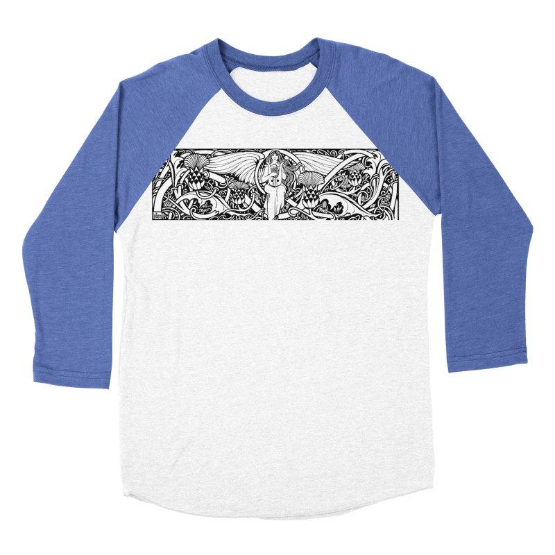 Angel Men's Baseball Triblend Longsleeve T-Shirt by Green Grackle Studio
