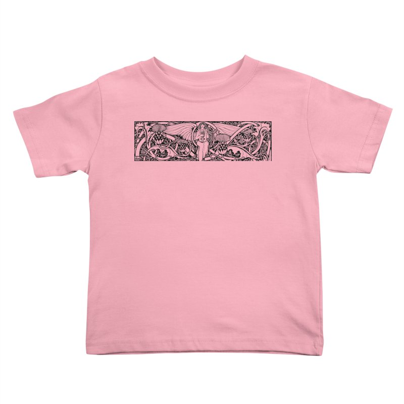 Angel Kids Toddler T-Shirt by Green Grackle Studio