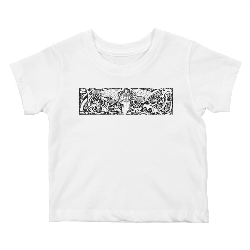 Angel Kids Baby T-Shirt by Green Grackle Studio