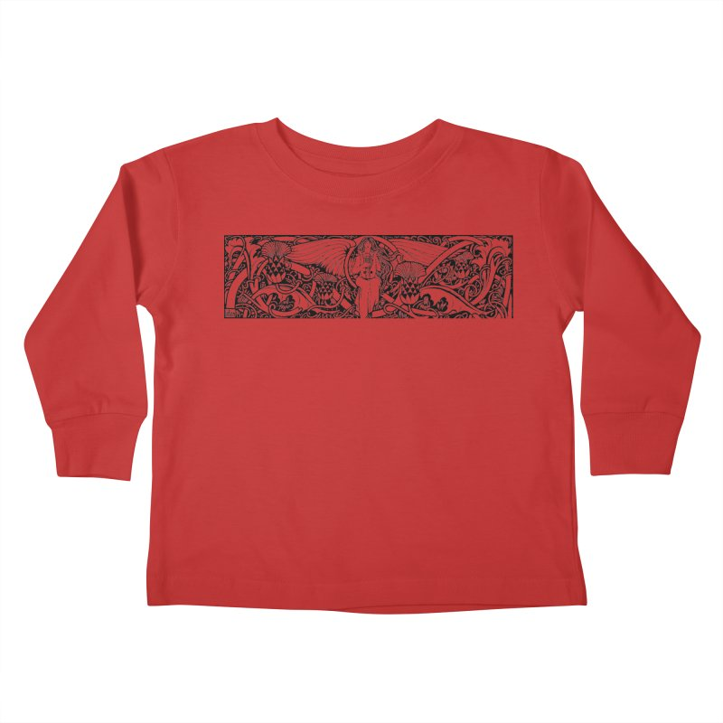 Angel Kids Toddler Longsleeve T-Shirt by Green Grackle Studio