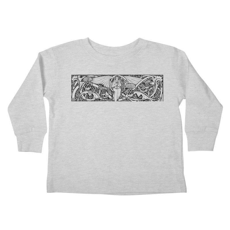 Angel Kids Toddler Longsleeve T-Shirt by Green Grackle Studio