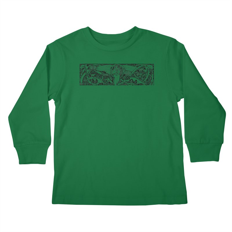Angel Kids Longsleeve T-Shirt by Green Grackle Studio