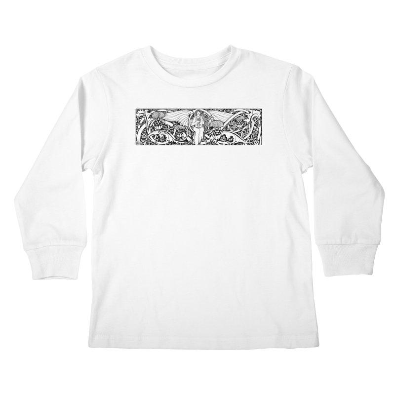 Angel Kids Longsleeve T-Shirt by Green Grackle Studio