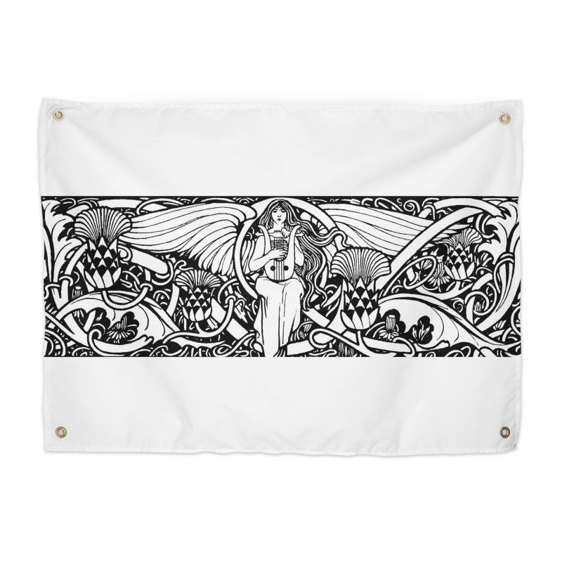 Angel Home Tapestry by Green Grackle Studio
