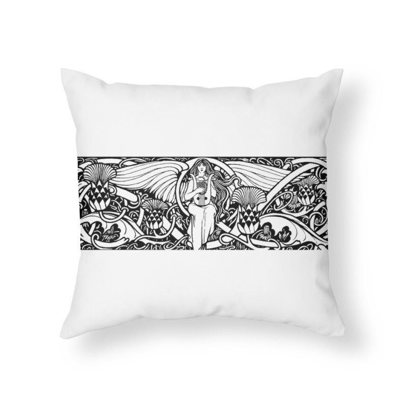 Angel Home Throw Pillow by Green Grackle Studio
