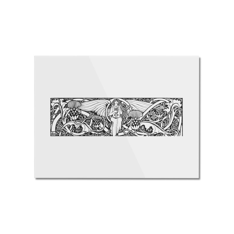 Angel Home Mounted Acrylic Print by Green Grackle Studio