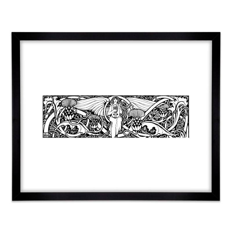 Angel Home Framed Fine Art Print by Green Grackle Studio