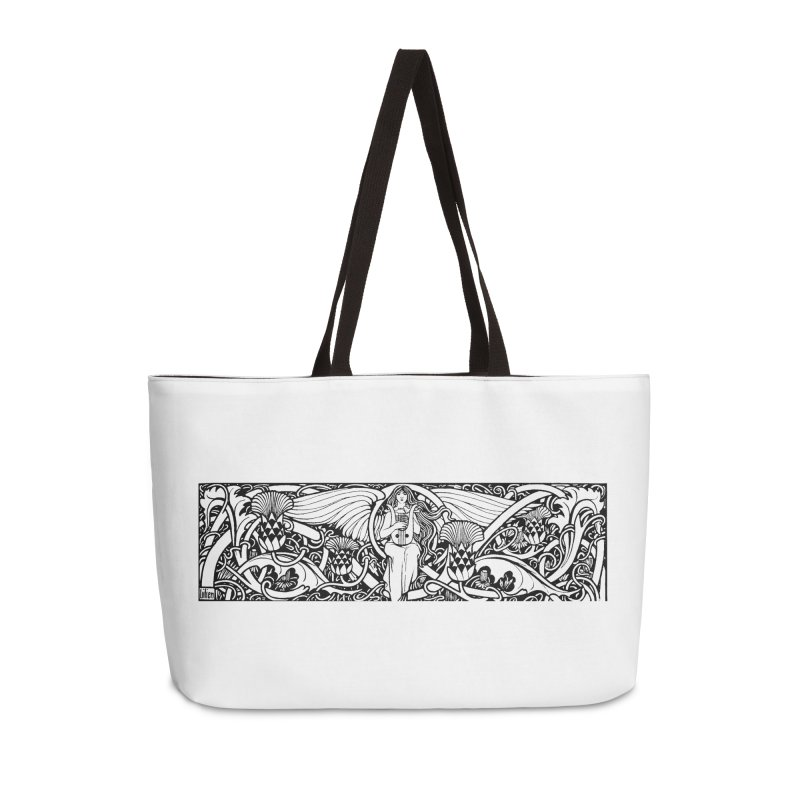 Angel Accessories Bag by Green Grackle Studio