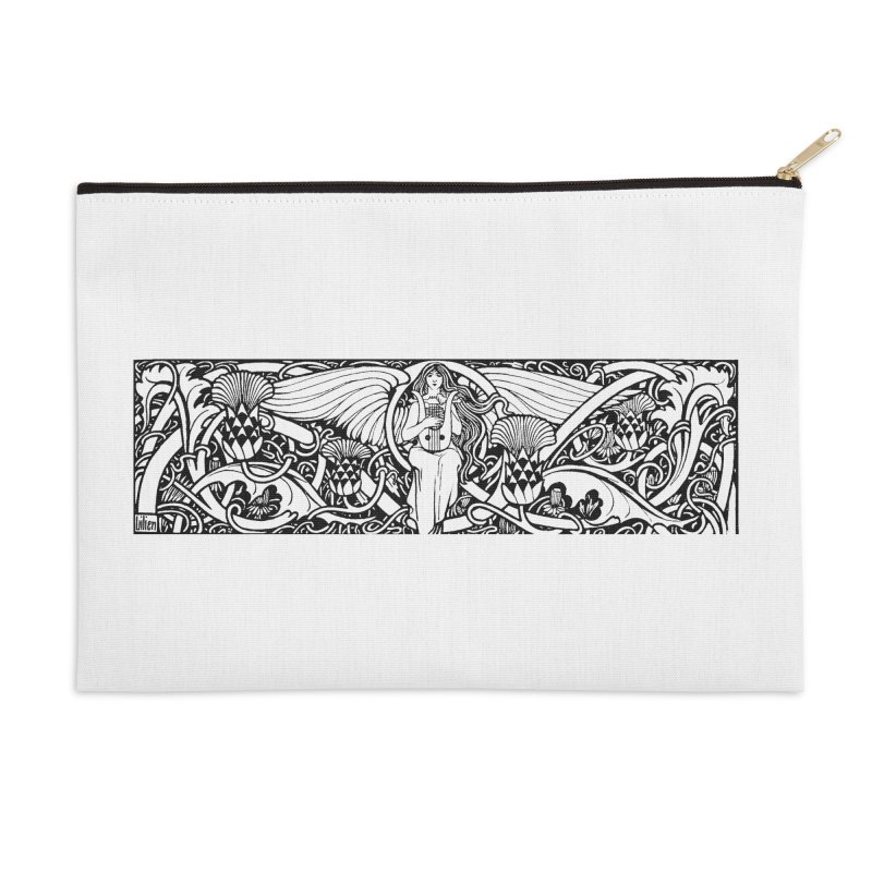 Angel Accessories Zip Pouch by Green Grackle Studio