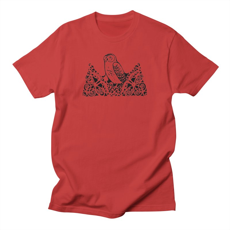 Tis Nothing but a Little Downy Owl Men's T-Shirt by Green Grackle Studio