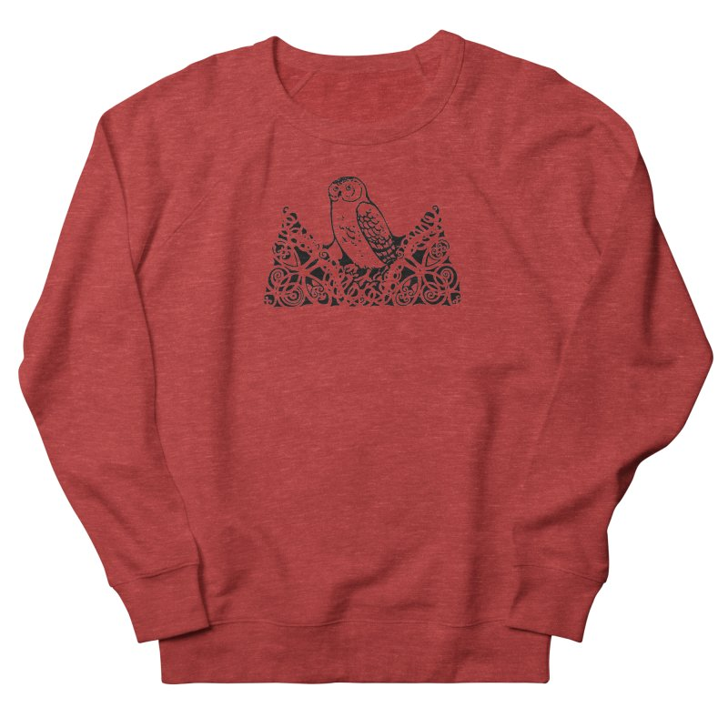 Tis Nothing but a Little Downy Owl Women's French Terry Sweatshirt by Green Grackle Studio