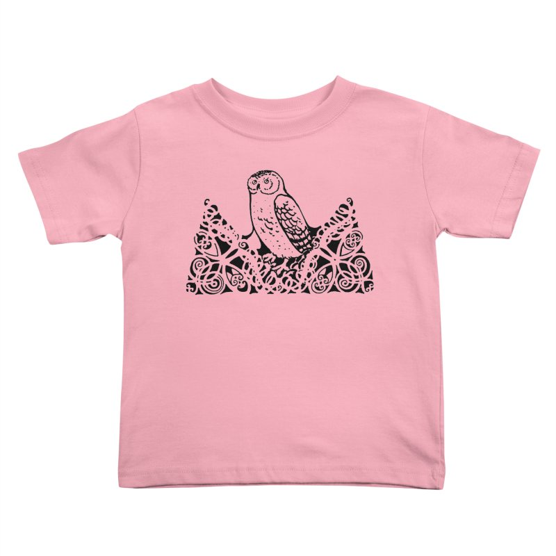 Tis Nothing but a Little Downy Owl Kids Toddler T-Shirt by Green Grackle Studio