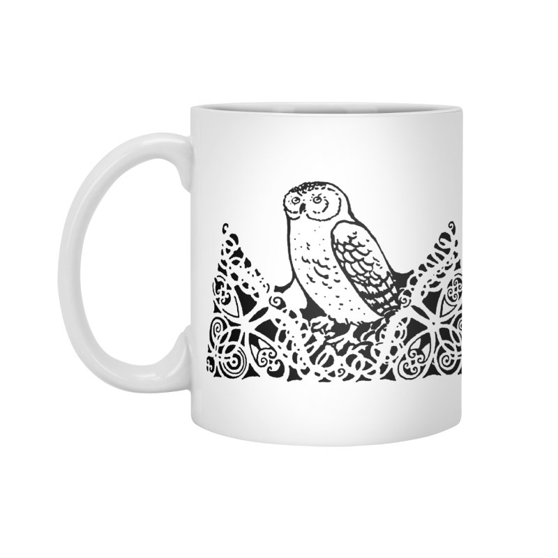 Tis Nothing but a Little Downy Owl Accessories Standard Mug by Green Grackle Studio