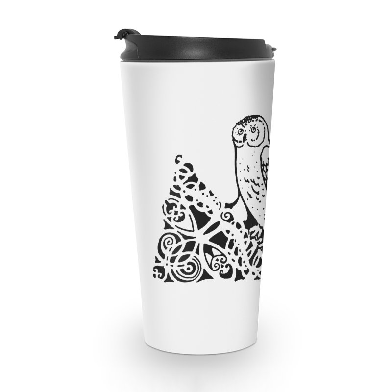 Tis Nothing but a Little Downy Owl Accessories Travel Mug by Green Grackle Studio