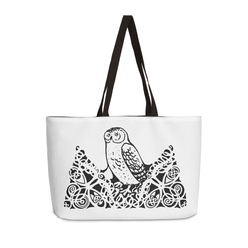 Tis Nothing but a Little Downy Owl Accessories Weekender Bag Bag by Green Grackle Studio