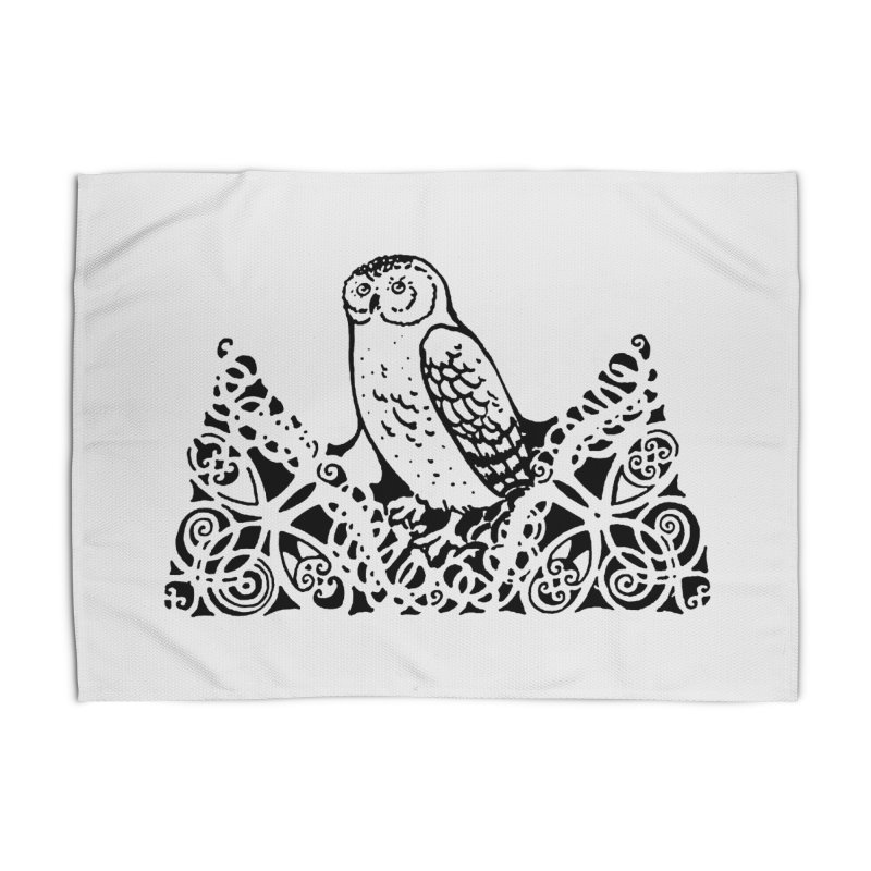 Tis Nothing but a Little Downy Owl Home Rug by Green Grackle Studio