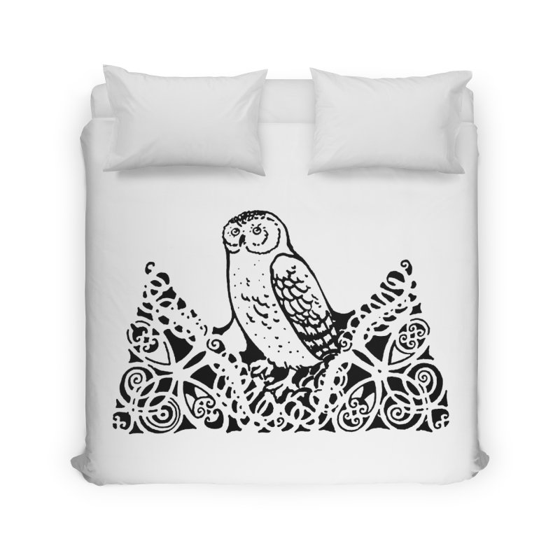 Tis Nothing but a Little Downy Owl Home Duvet by Green Grackle Studio