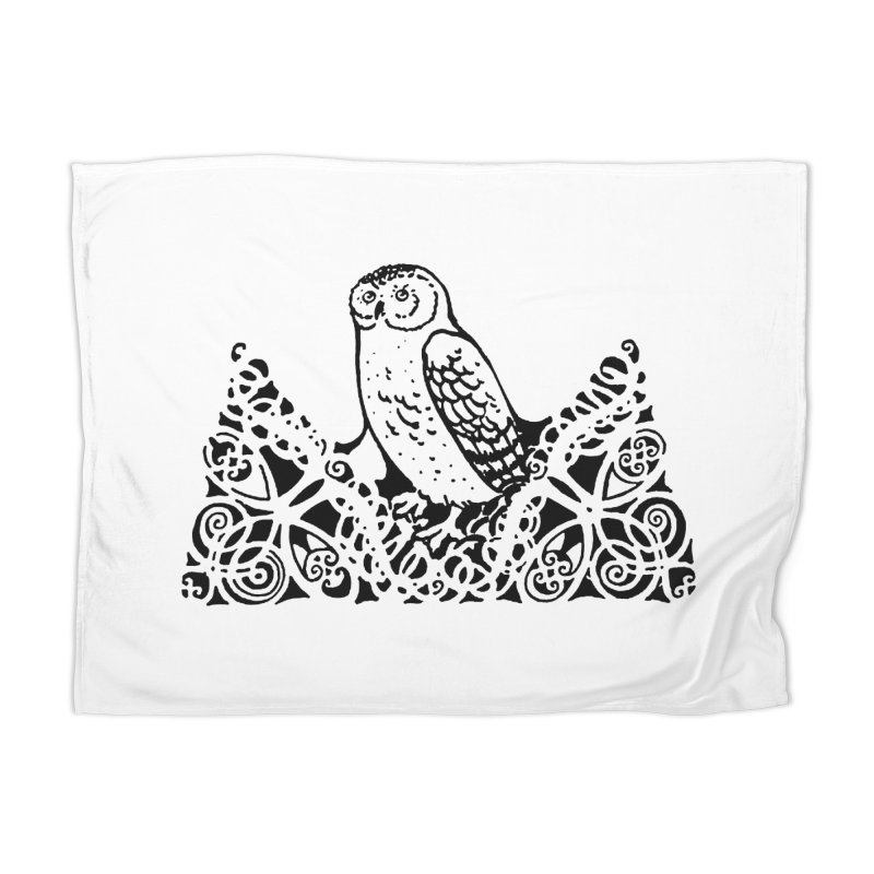 Tis Nothing but a Little Downy Owl Home Blanket by Green Grackle Studio