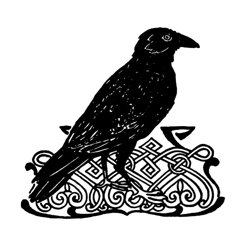 Crow with Celtic Knot   by Green Grackle Studio