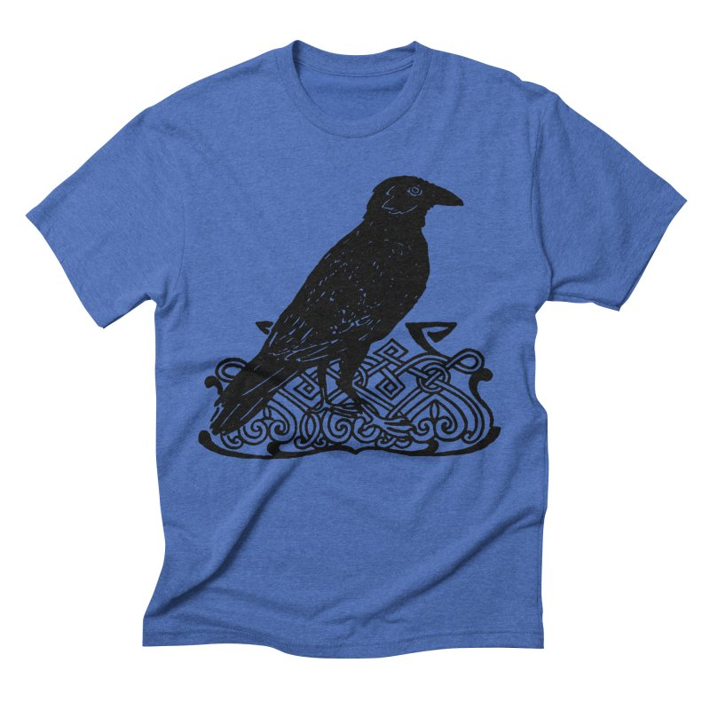 Crow with Celtic Knot Men's T-Shirt by Green Grackle Studio