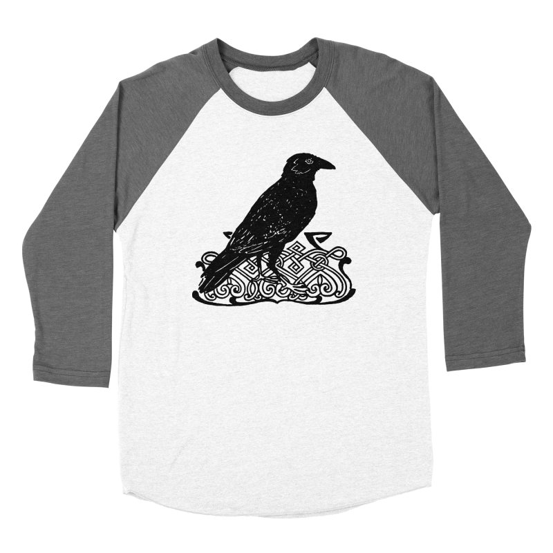 Crow with Celtic Knot Women's Longsleeve T-Shirt by Green Grackle Studio