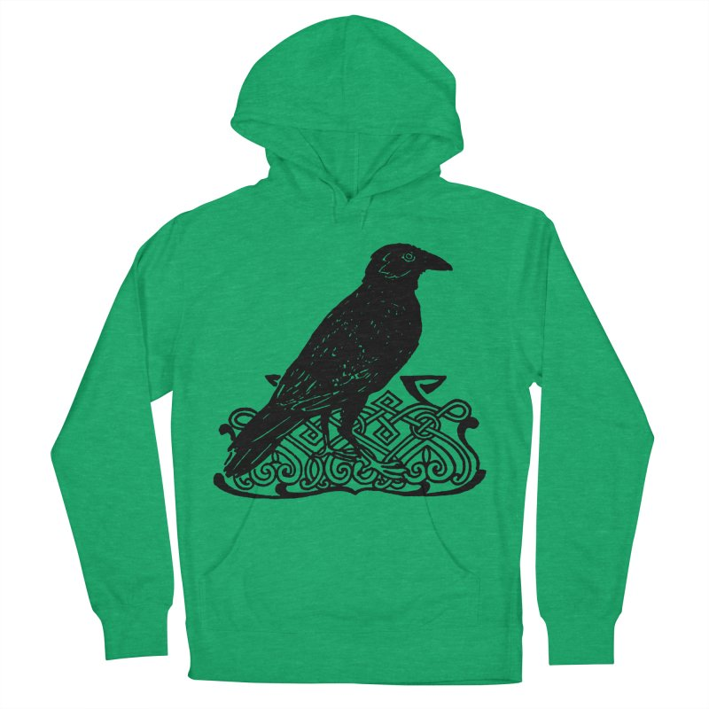 Crow with Celtic Knot Women's French Terry Pullover Hoody by Green Grackle Studio