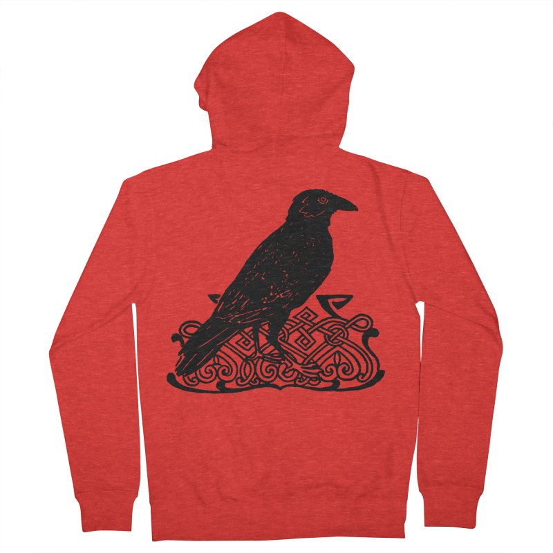 Crow with Celtic Knot Women's Zip-Up Hoody by Green Grackle Studio