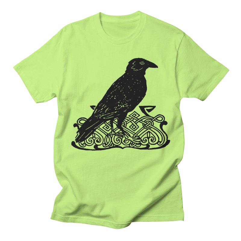 Crow with Celtic Knot Women's Regular Unisex T-Shirt by Green Grackle Studio