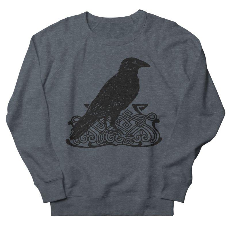 Crow with Celtic Knot Men's Sweatshirt by Green Grackle Studio