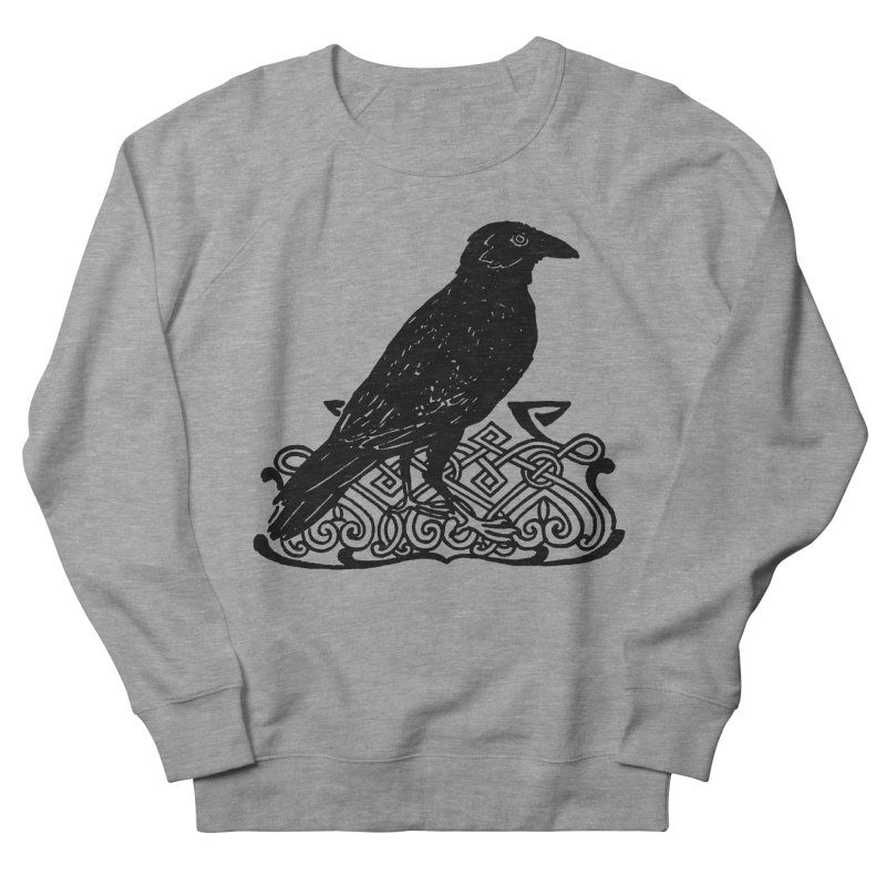 Crow with Celtic Knot Men's Sweatshirt by Green Grackle Studio