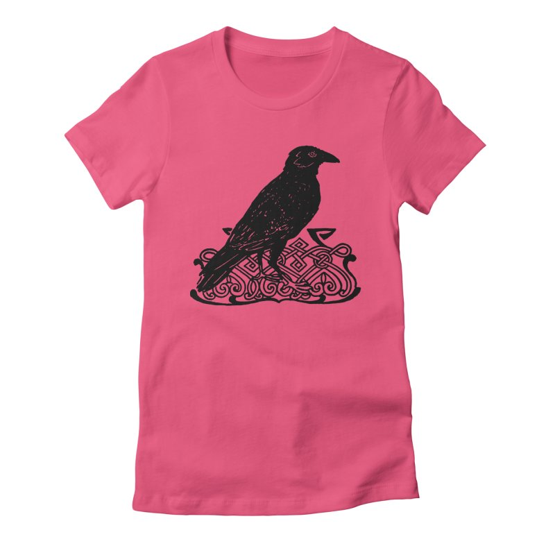 Crow with Celtic Knot Women's T-Shirt by Green Grackle Studio