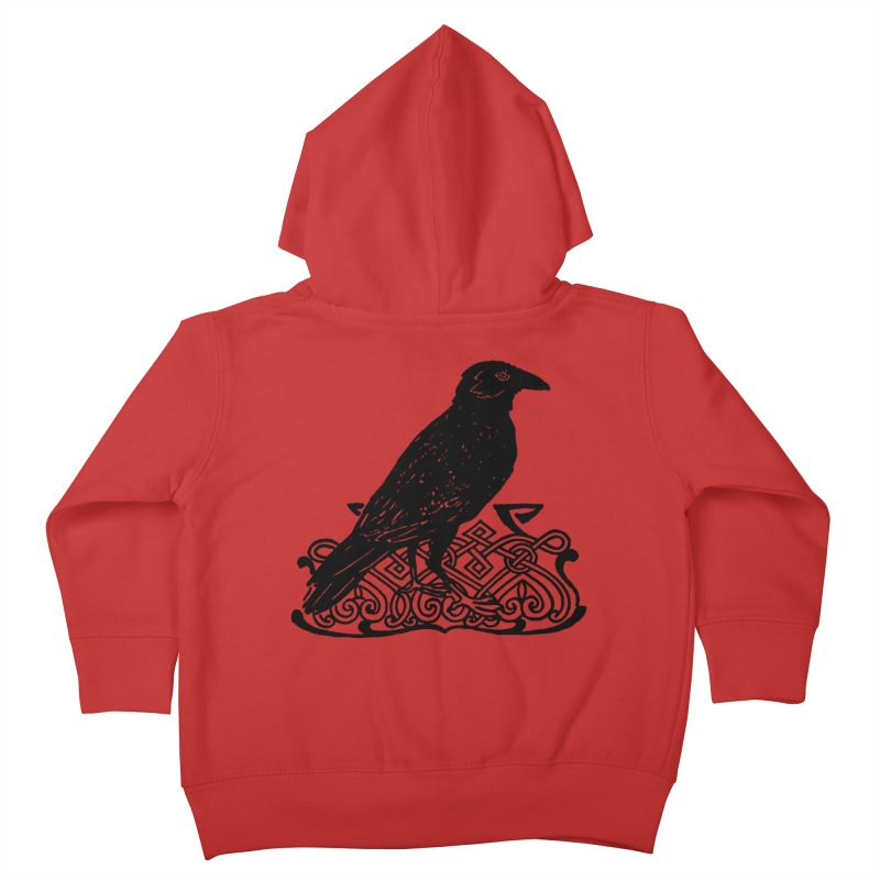 Crow with Celtic Knot Kids Toddler Zip-Up Hoody by Green Grackle Studio