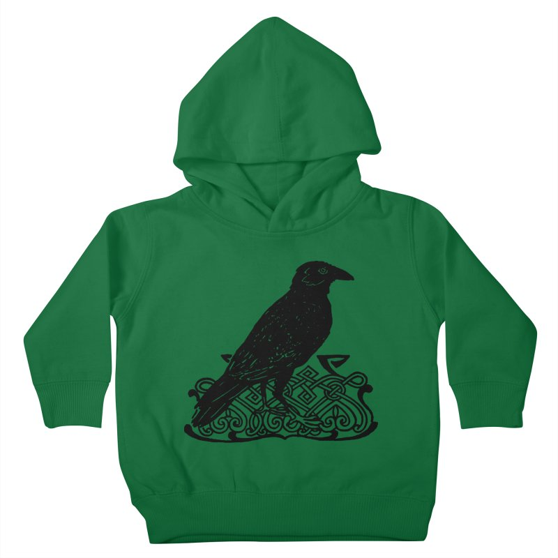 Crow with Celtic Knot Kids Toddler Pullover Hoody by Green Grackle Studio