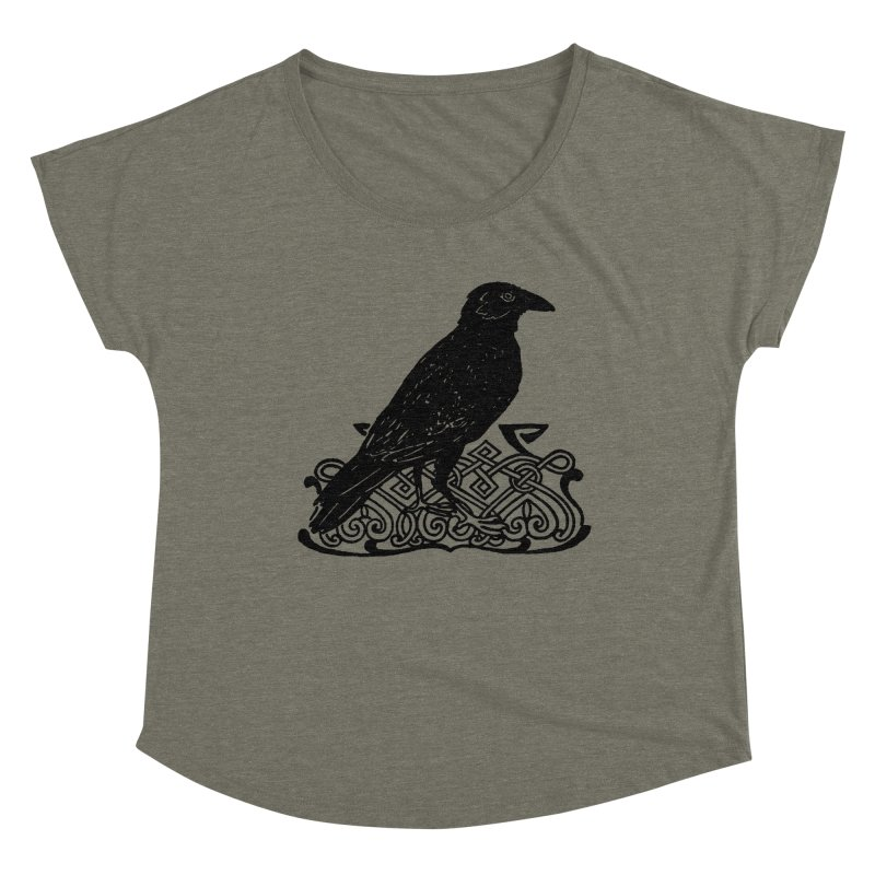 Crow with Celtic Knot Women's Scoop Neck by Green Grackle Studio