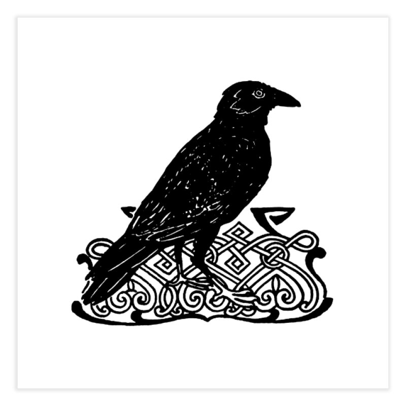 Crow with Celtic Knot Home Fine Art Print by Green Grackle Studio
