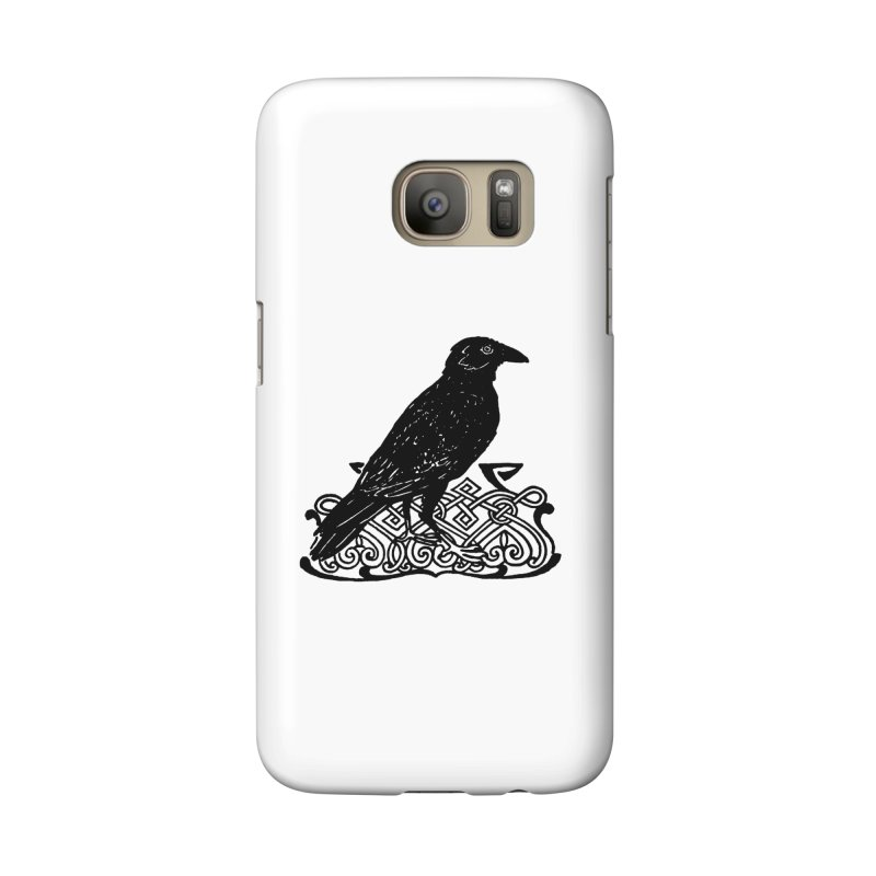 Crow with Celtic Knot Accessories Phone Case by Green Grackle Studio