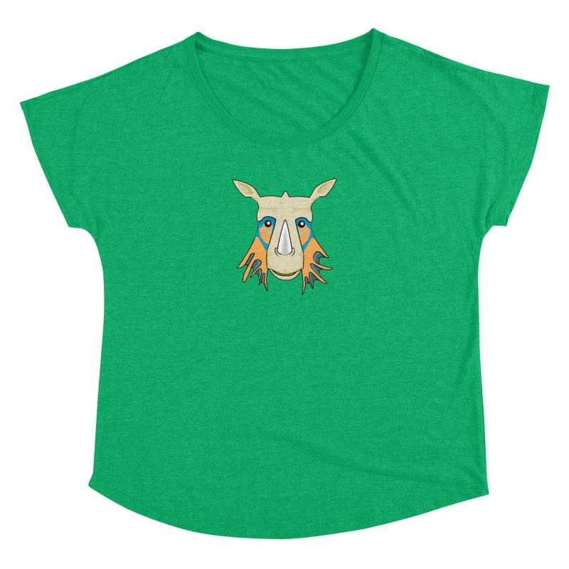 Rhinolicious Women's Dolman Scoop Neck by