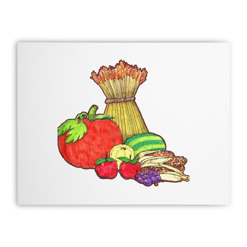 Harvest Fruit Home Stretched Canvas by