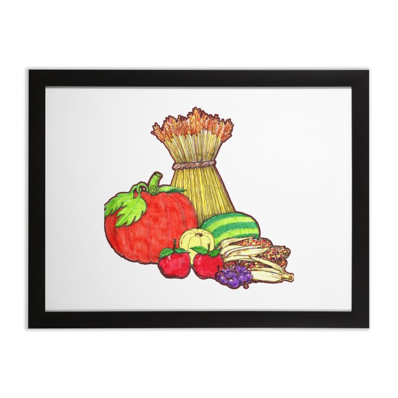 Harvest Fruit Home Framed Fine Art Print by