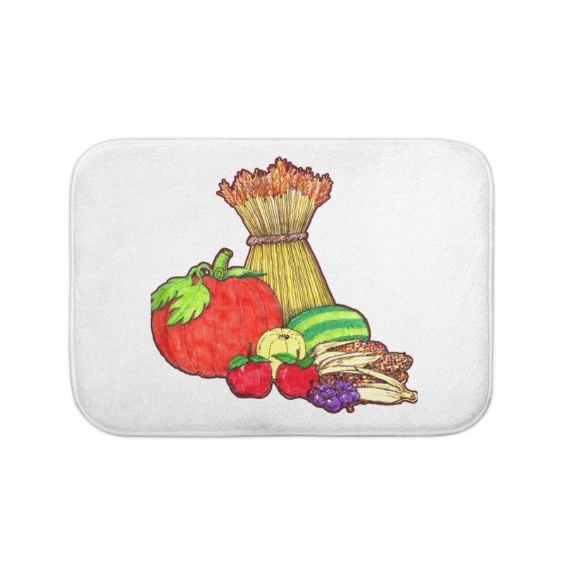 Harvest Fruit Home Bath Mat by