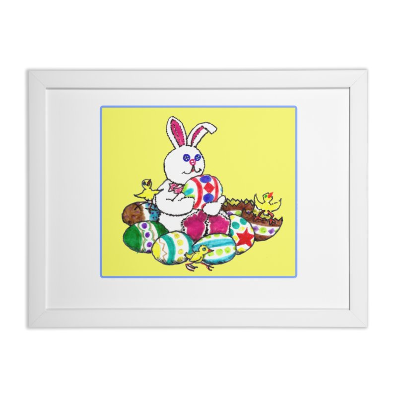 Easter Chicks Everywhere! Home Framed Fine Art Print by