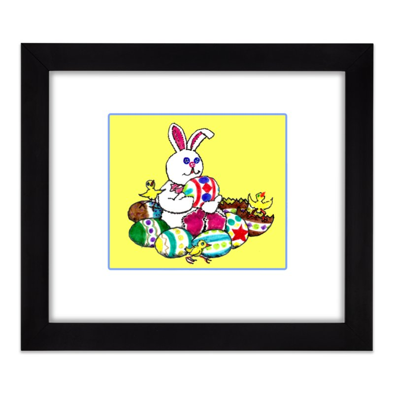 Easter Chicks Everywhere! Home Framed Fine Art Print by