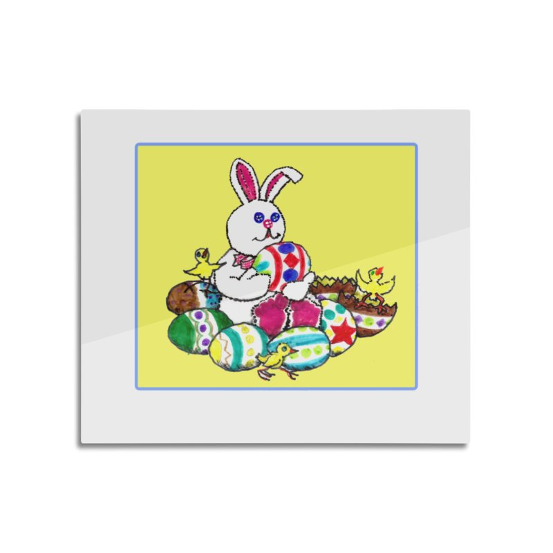 Easter Chicks Everywhere! Home Mounted Aluminum Print by