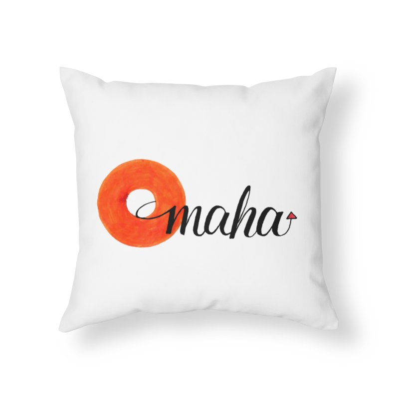 Omaha Home Throw Pillow by