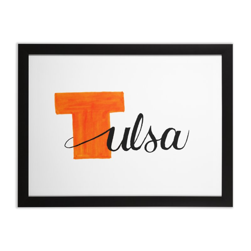 Tulsa  Home Framed Fine Art Print by